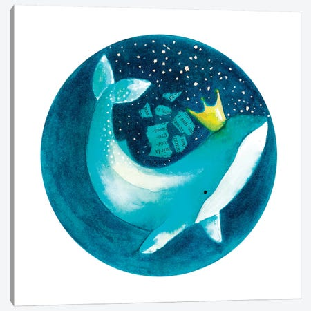 Magic Whale II 3-Piece Canvas #TCW25} by The Cosmic Whale Canvas Art Print