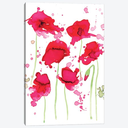 Poppies Canvas Print #TCW32} by The Cosmic Whale Art Print
