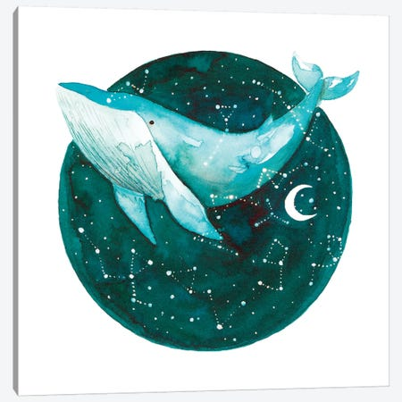 Cosmic Whale I Canvas Print #TCW5} by The Cosmic Whale Art Print