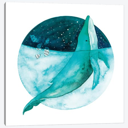 Cosmic Whale II 3-Piece Canvas #TCW6} by The Cosmic Whale Canvas Art Print