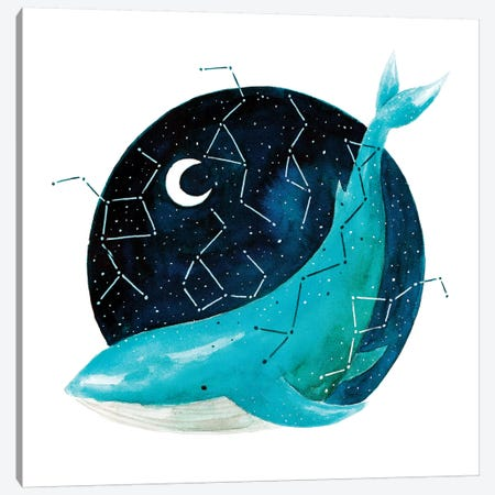 Cosmic Whale III Canvas Print #TCW7} by The Cosmic Whale Canvas Print