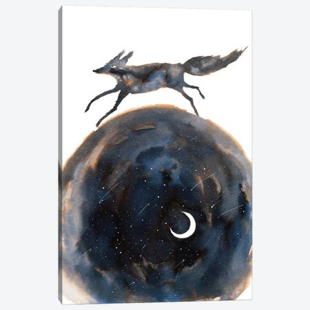 Cosmic Wolf Canvas Print #TCW8} by The Cosmic Whale Canvas Artwork