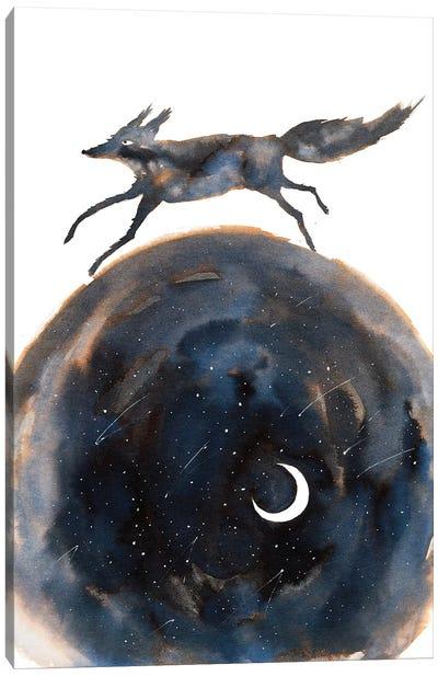 Cosmic Wolf Canvas Art Print