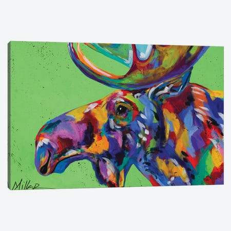 Rocky Mountain Moose Canvas Print #TCY102} by Tracy Miller Canvas Wall Art