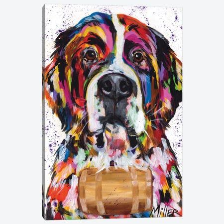 Saint Bernard Canvas Print #TCY115} by Tracy Miller Canvas Art