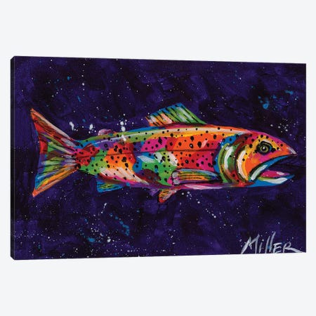 Static Trout Canvas Print #TCY118} by Tracy Miller Canvas Print