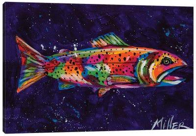 Static Trout Canvas Art Print