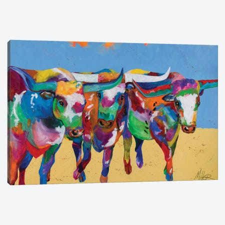 Stampede Canvas Print #TCY127} by Tracy Miller Canvas Print