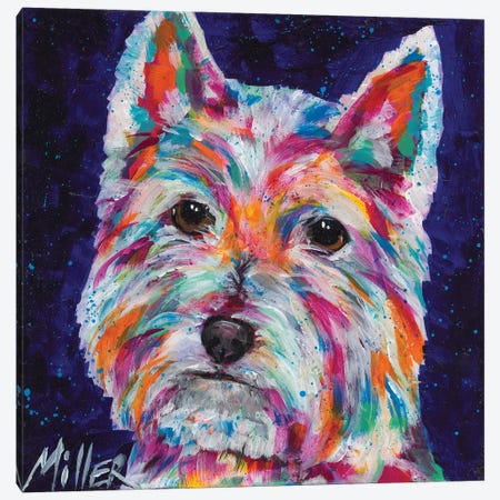 Westie Canvas Print #TCY146} by Tracy Miller Canvas Art Print