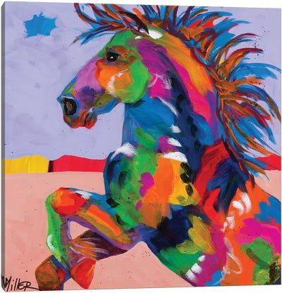 Flyin' Hooves II Canvas Art Print