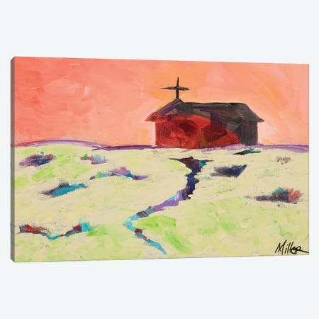 Red Adobe Church Canvas Print #TCY165} by Tracy Miller Art Print