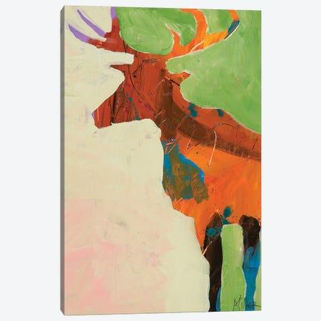 Elk Slumber Canvas Print #TCY167} by Tracy Miller Art Print