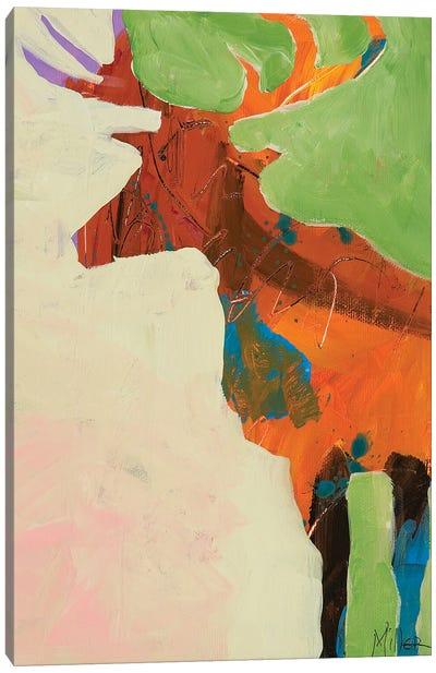 Elk Slumber Canvas Art Print
