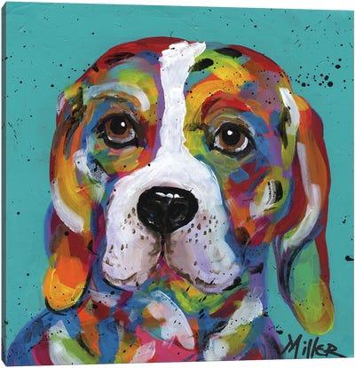 Barney Beagle Canvas Art Print