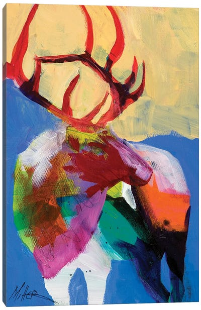 Elk Essence Canvas Art Print