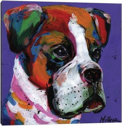 Boo Boxer Canvas Art Print