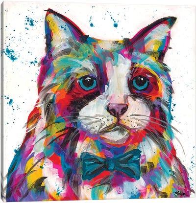 Bow Tie Kittie Canvas Art Print
