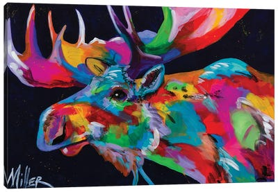Bull Moose Canvas Art Print