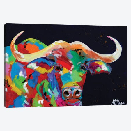 Cape Buffalo Canvas Print #TCY42} by Tracy Miller Canvas Artwork