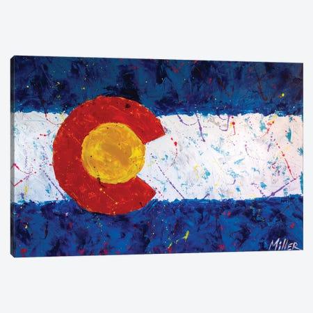 Colorado Flag Canvas Print #TCY45} by Tracy Miller Art Print