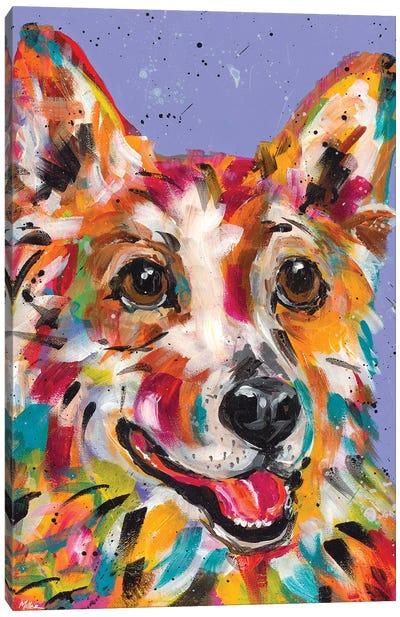 Corgi Smile Canvas Art Print