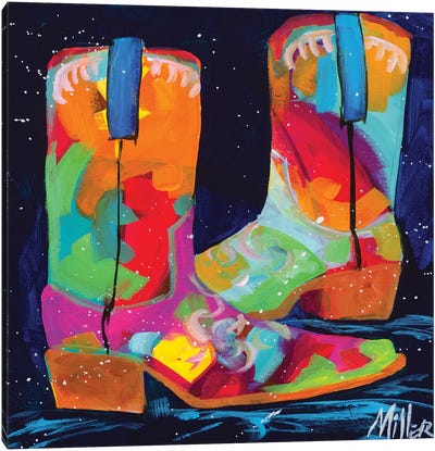 Dueling Boots Canvas Art Print