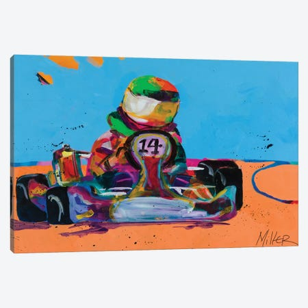 Go Kart Racer Canvas Print #TCY59} by Tracy Miller Art Print