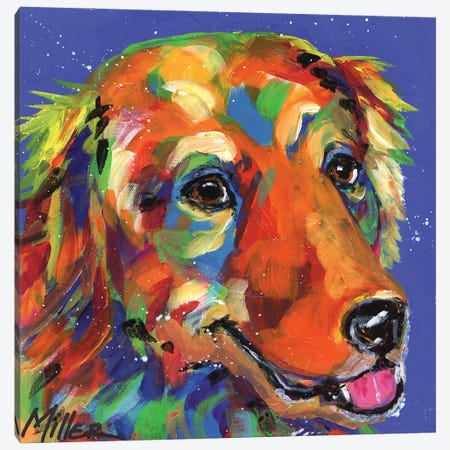 Gus the Golden Canvas Print #TCY61} by Tracy Miller Canvas Wall Art