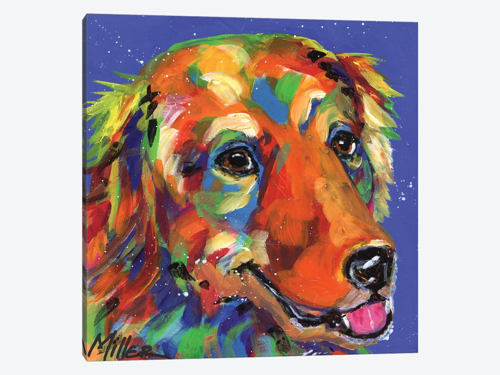 Gus the Golden by Tracy Miller 1-piece Canvas Artwork