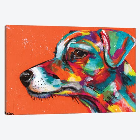 Jack Russell Canvas Print #TCY68} by Tracy Miller Canvas Artwork