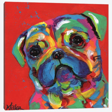 Polly Pug Canvas Print #TCY92} by Tracy Miller Canvas Art Print