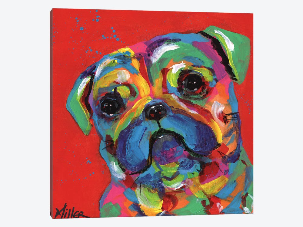 Polly Pug by Tracy Miller 1-piece Canvas Art