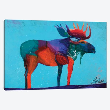 Mystic Moose Canvas Print #TCY96} by Tracy Miller Canvas Art