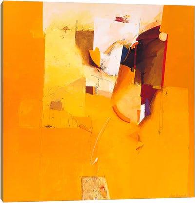 Yellow One Canvas Art Print