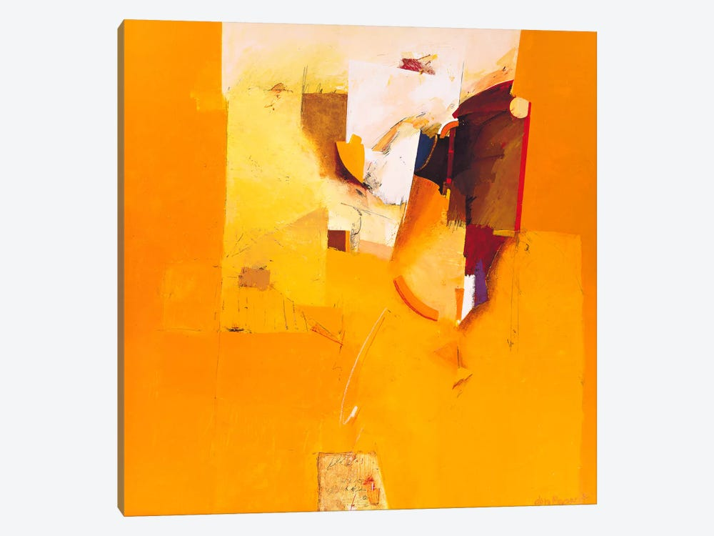 Yellow One by Theo den Boon 1-piece Canvas Artwork