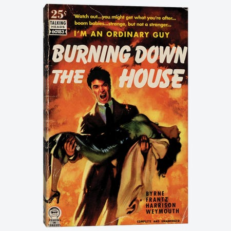 Burning Down The House Canvas Print #TDD14} by Todd Alcott Canvas Wall Art
