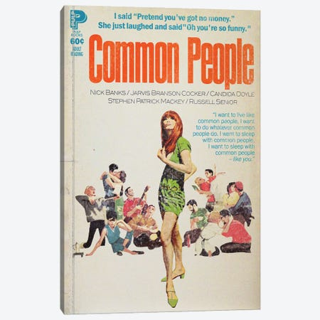 Common People Canvas Print #TDD16} by Todd Alcott Canvas Art