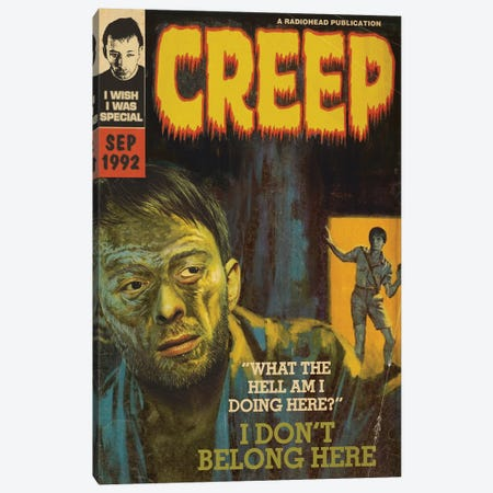 Creep Canvas Print #TDD17} by Todd Alcott Canvas Artwork