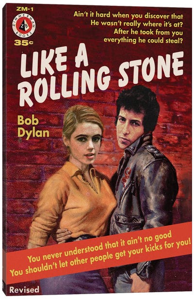 Like A Rolling Stone Canvas Art Print