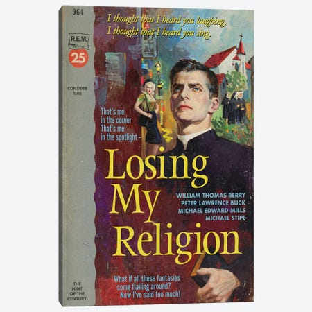 Losing My Religion Canvas Print #TDD38} by Todd Alcott Art Print