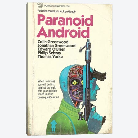 Paranoid Android Canvas Print #TDD44} by Todd Alcott Canvas Art Print