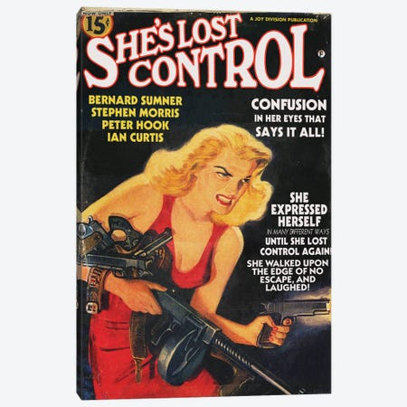 She's Lost Control Canvas Print #TDD51} by Todd Alcott Art Print