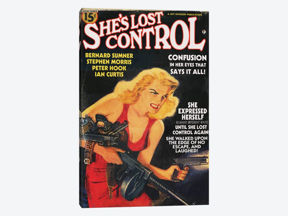 She's Lost Control by Todd Alcott 1-piece Art Print