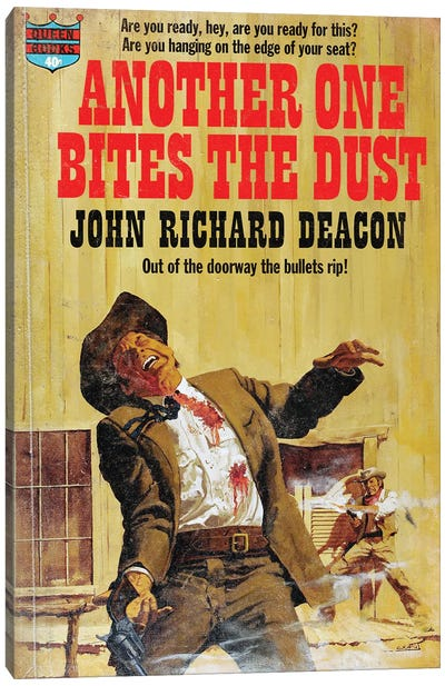 Another One Bites The Dust Canvas Art Print