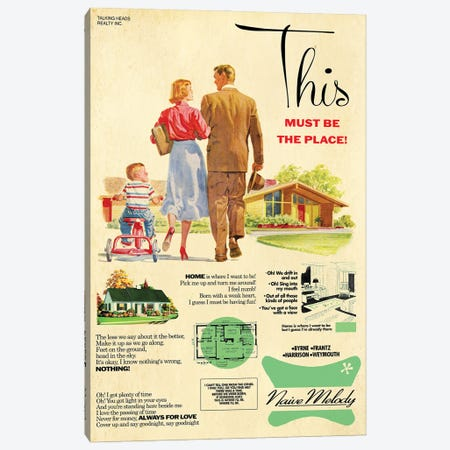 This Must Be The Place Canvas Print #TDD66} by Todd Alcott Canvas Print