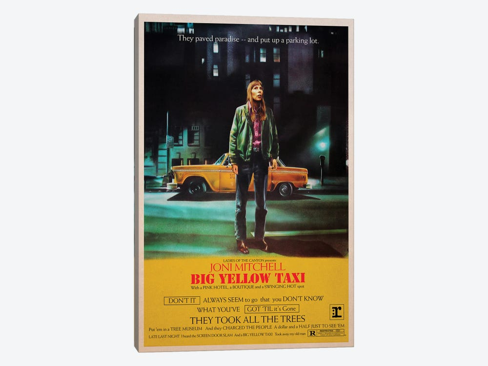 Big Yellow Taxi by Todd Alcott 1-piece Canvas Art