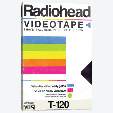 Videotape Canvas Print #TDD70} by Todd Alcott Canvas Art Print