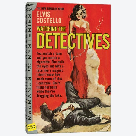Watching The Detectives Canvas Print #TDD71} by Todd Alcott Canvas Art Print