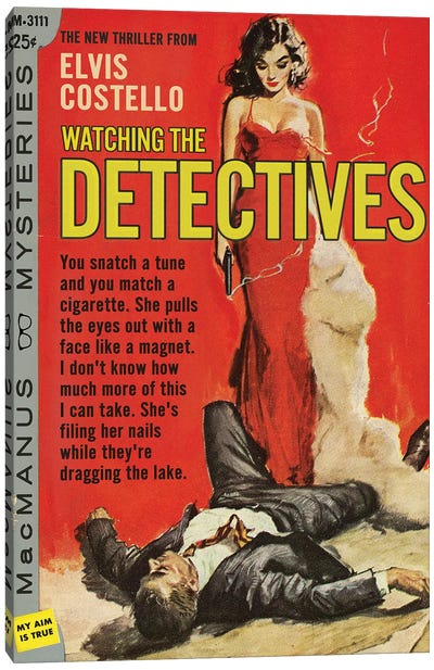 Watching The Detectives Canvas Art Print