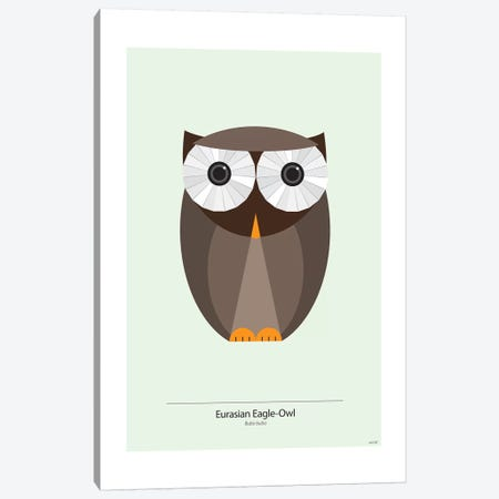 Bubo Canvas Print #TDE10} by TomasDesign Canvas Art